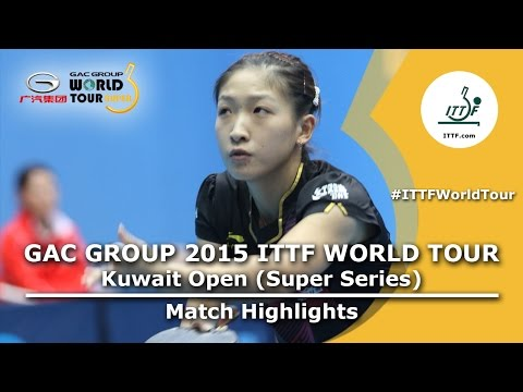 Kuwait Open 2015 Highlights: LI Xiaoxia vs LIU Shiwen (1/2 FINAL)