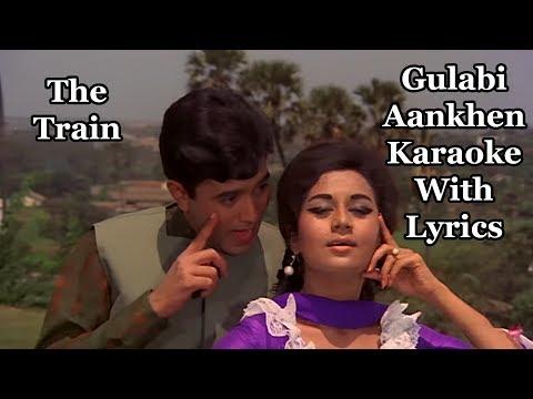 Gulabi Aankhen Karaoke With Lyrics | The Train | Mohammed Rafi