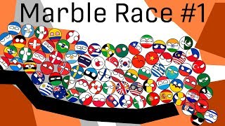 COUNTRYBALLS MARBLE RACE CUP 2019 #1 | countries marble run