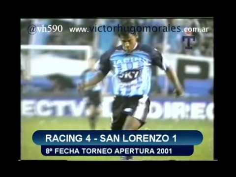 Primera parte de un especial con los relatos de Víctor Hugo de los goles de Racing Club en el Torneo Apertura 2001.