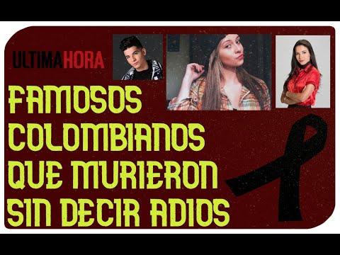 Famosos colombianos fallecidos