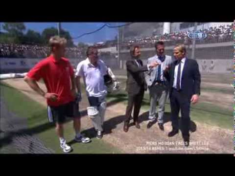 Piers Morgan faces Brett Lee (LONG VERSION) - 2013/14 Ashes