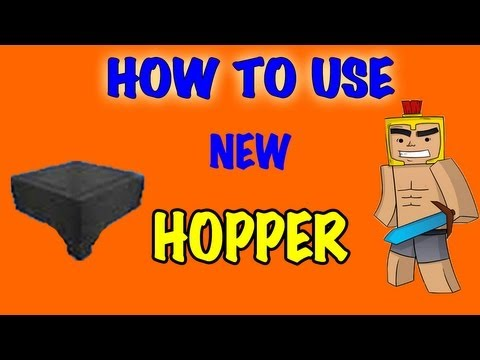 How to Use New Hopper - Minecraft 1.7.2 update
