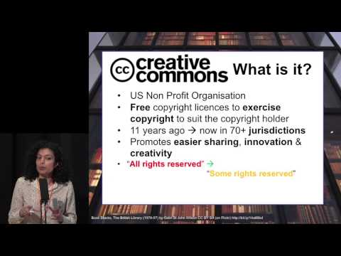 Copyright and Creative Commons Presentation at the #OABooks conference