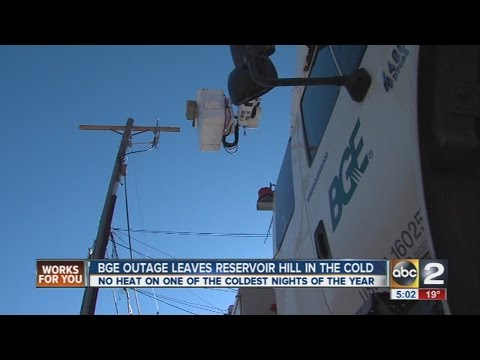 BGE restores power to Reservoir Hill homes after power outage