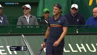 Federer Stops Kudla to Reach Final; Coric Will Face Him | Halle 2018 Semi-Final Highlights
