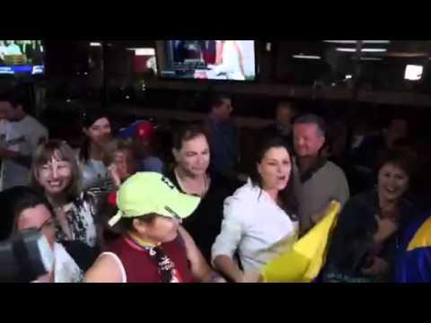 Miami Venezuelans celebrate Chavez death
