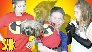 Noah is a Werewolf! The Incredibles Super Speed Suit Gets Shredded