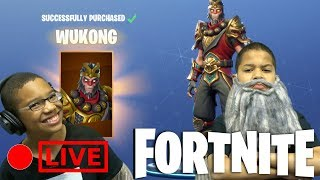 Fortnite Battle Royale -  Kids Playing Fortnite With WUKONG - PLAYING WITH SUBS