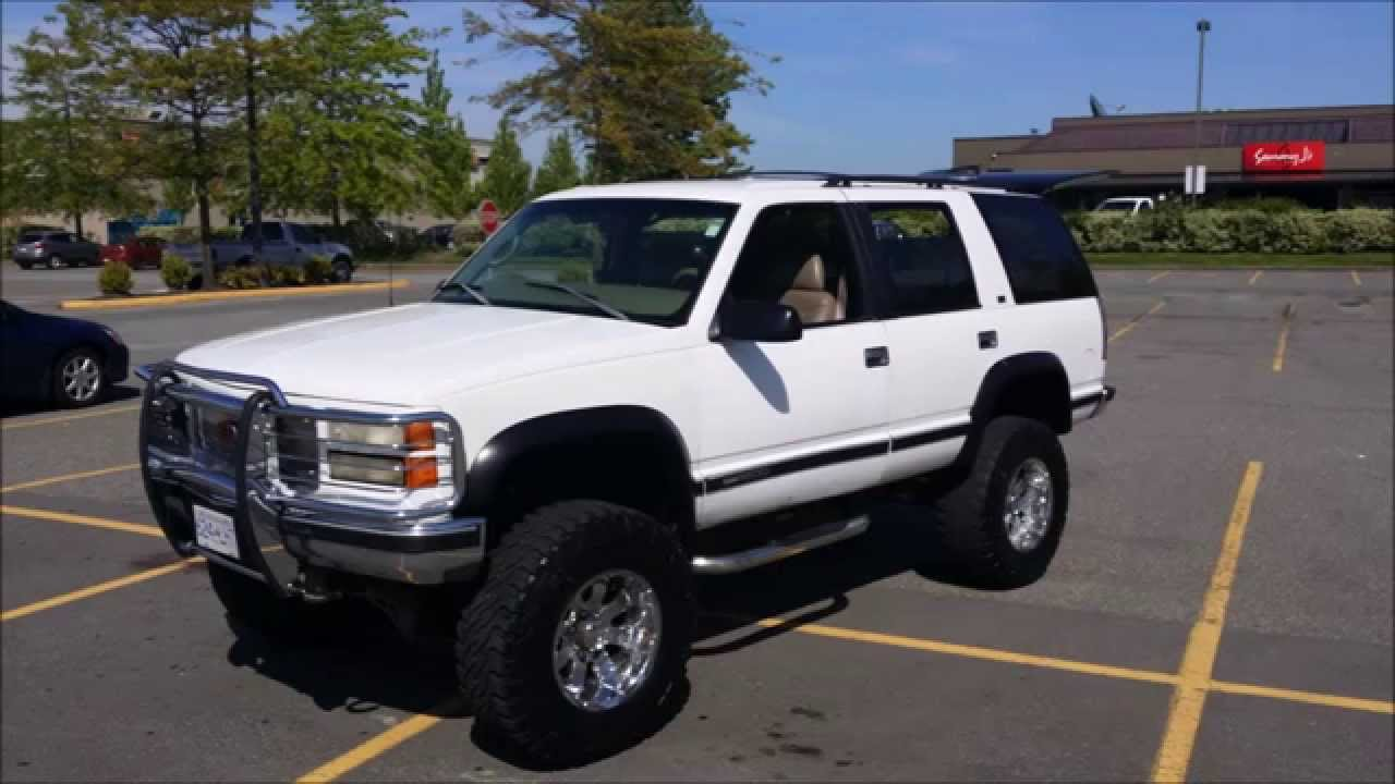 for sale badass lifted 1997 gmc yukon slt suv youtube. Black Bedroom Furniture Sets. Home Design Ideas