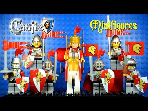 LEGO Castle Red Lion Kingdom KnockOff Minifigures Set 3 (Bootleg ...