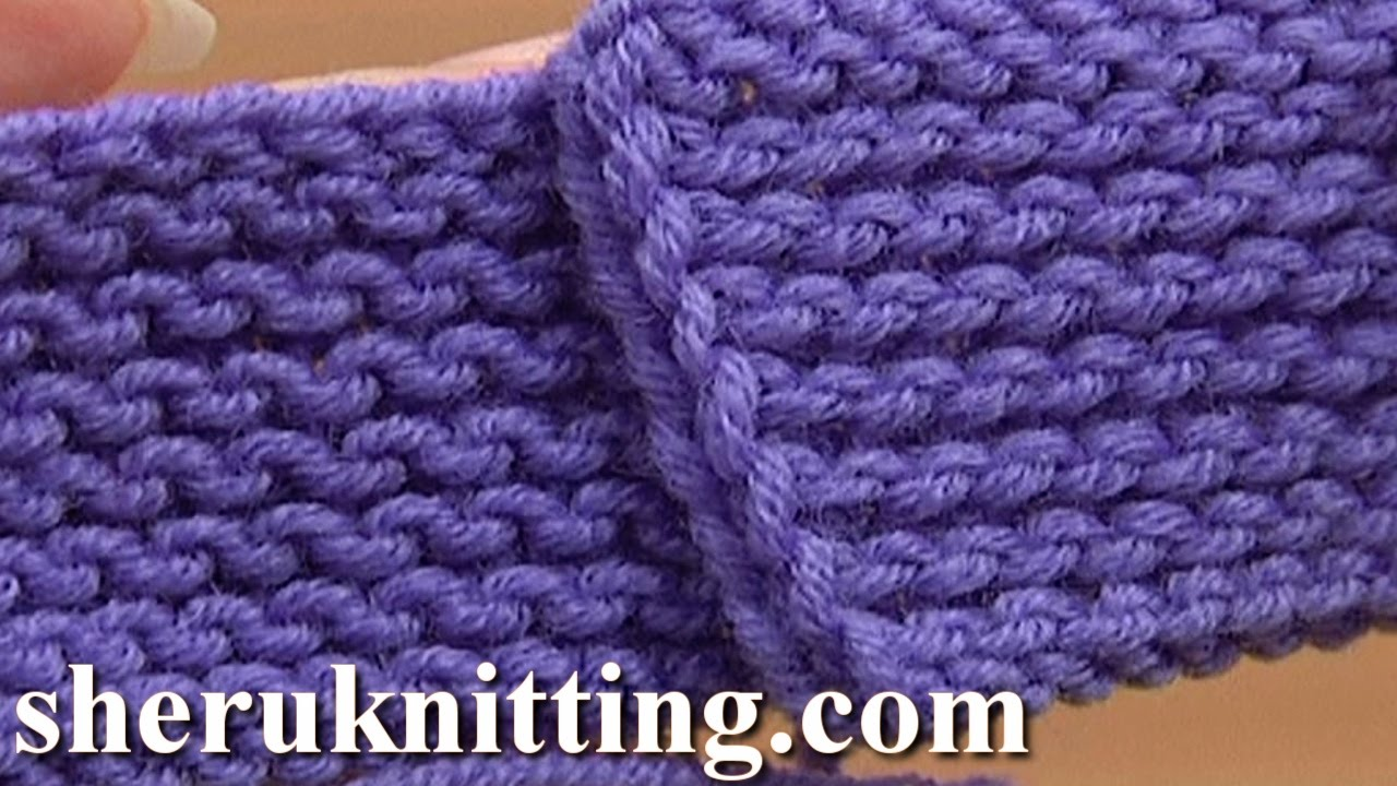 The Garter Stitch Knitting Tutorial 6 Part 4 of 4 Work Purl Rows - YouTube