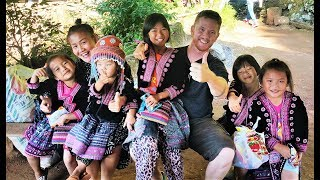 Giving Goodies to the Kids in Hmong Village (Thailand, 4k60P)
