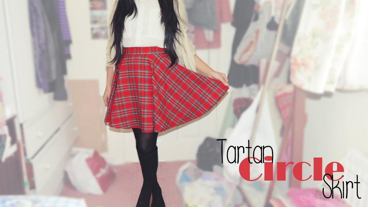 DIY Tartan Circle/Skater Skirt