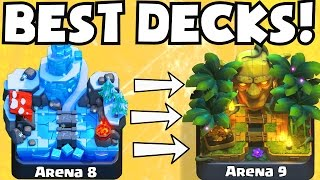Clash Royale BEST DECK FOR ARENA 8 ARENA 9 DECKS UNDEFEATED | BEST ATTACK STRATEGY TIPS F2P PLAYERS