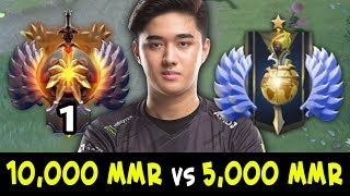 Difference in 10,000 MMR and 5,000 MMR on mid — TOP-1 RANK Abed vs Divine Invoker