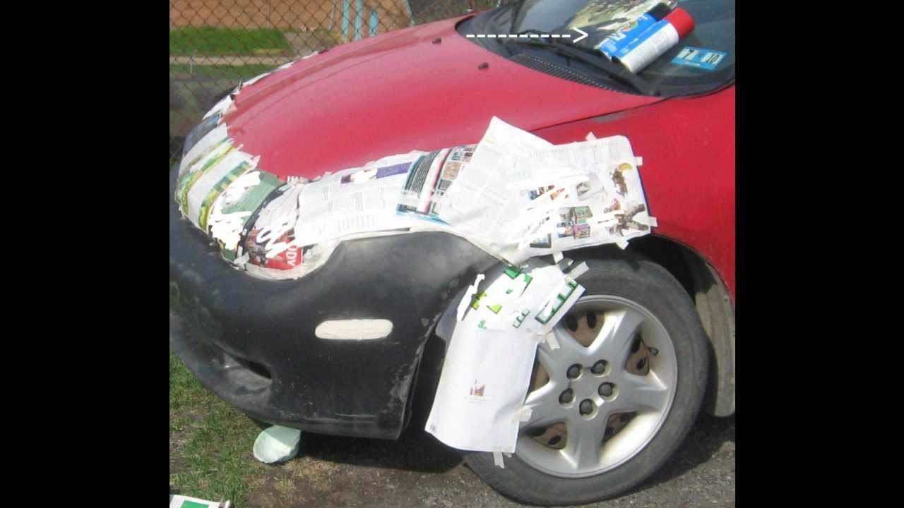 how to spray paint a car dodge neon 2000 front bumper youtube. Black Bedroom Furniture Sets. Home Design Ideas