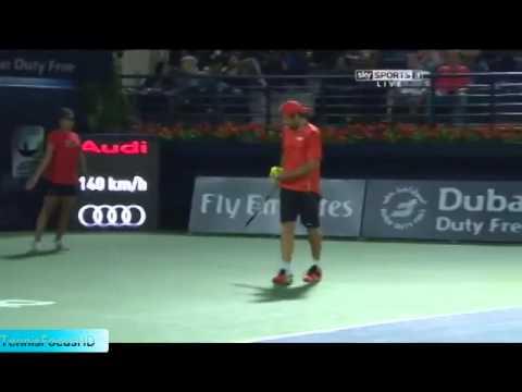 Dubai 2014 First Round R Federer Vs B Becker