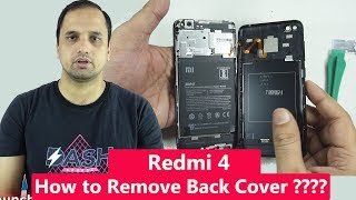 How to remove back cover of Xiaomi Redmi 4