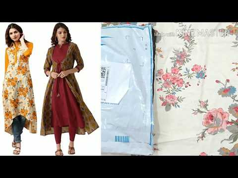 Unboxing a line kurti design from Flipkart | cotton ki kurti | new kurta style printed kurti design