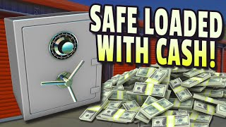 We found  $26420.00 Inside safe, best storage auction find, 825$ Gamble hit huge jackpot