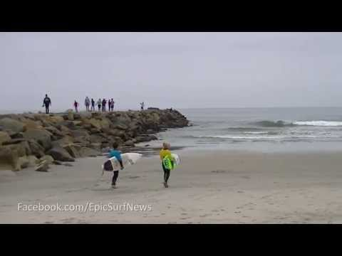 Dancing Grom at the NSSA surfing event in Oceanside - Short Version