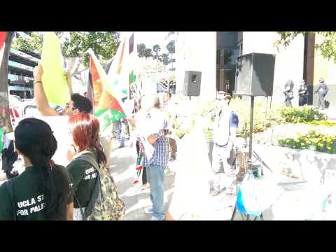 Pro-Palestinian protest outside Israeli Consulate in Los Angeles