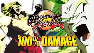 BREAKING BROLY'S DAMAGE BARRIER: 100% Solo Damage & Combo Guide - DragonBall FighterZ