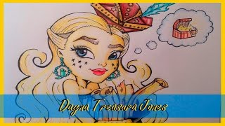 Рисуем Monster High Дану Трежуру Джонс (Dayna Treasura Jones)