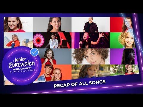 RECAP: All the songs of Junior Eurovision 2019