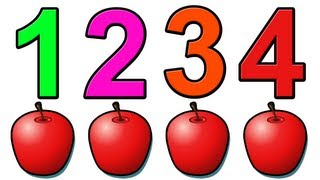 """Counting Apples"" - Education for Children and Babies, Kids Learn to Count Numbers 1234"