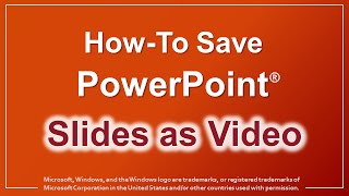 Download How to Save PowerPoint Slides as an MP4 Video 3Gp Mp4