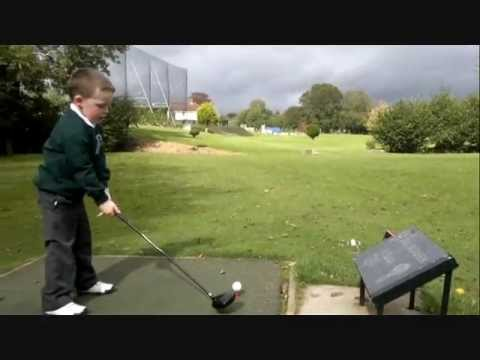 WATCH THIS 4 year old golfer sean ryan  out for a few holes loves rory mcilroy