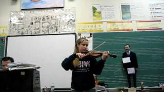 Amy Plays the Violin