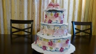 Diaper Cake For Baby Girl