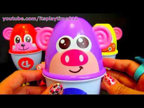 Animal Stacking Cups Surprise Fajiabao Play-Doh Disney Henry Hugglemonster - itsplaytime612
