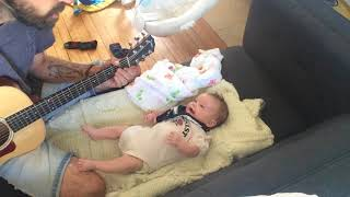 First Daddy-Daughter Sing-a-long with my baby girl Nova :)
