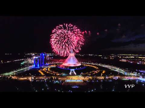Салют, день города Астаны. (2015 Astana Kazakhstan / Астана Казахстан)