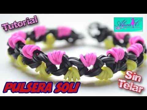 ♥ Tutorial: Pulsera Soli de gomitas (sin telar) ♥