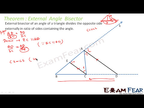 Maths Triangles part 12 (External Angle Bisector) CBSE class 10 Mathematics X