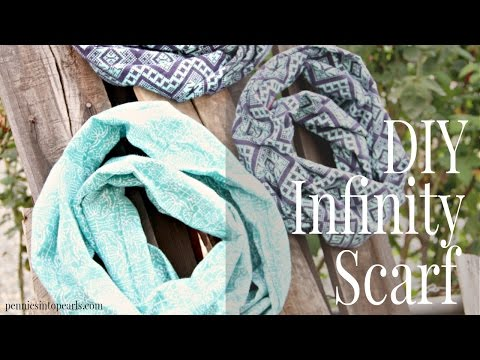 DIY Infinity Scarf Tutorial - YouTube