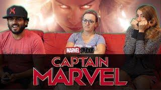 Captain Marvel Official Trailer - Group Reaction