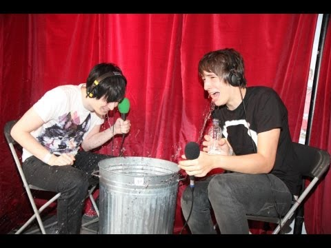Innuendo Bingo with Dan and Phil on Radio 1. Two boys get sexual and end up making each other very wet as people watch and laugh and some people take photos ...
