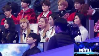 "[171231] MBC 가요대제전 Mamamoo reaction to EXO ""Universe"" short part 직캠"