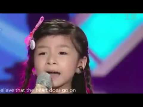 Titanic song by a 6 year old/Amazing voice