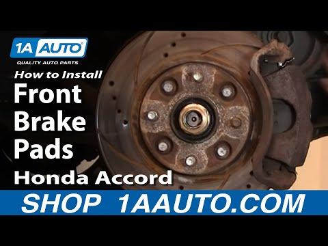 How To Install Replace Front Brake Pads Honda Accord 90-97 Acura CL 97 1AAuto.co