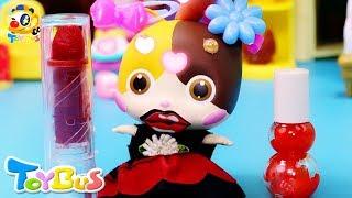 小貓咪做魔法口紅 | 寶寶玩具 | 兒童玩具 | 玩具巴士 | 學顏色