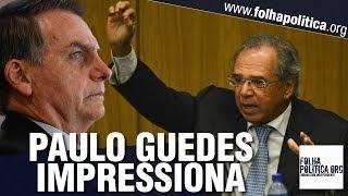 Paulo Guedes é intensamente aplaudido ao discursar sobre planos do Governo Bolsonaro p..