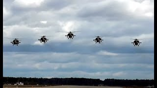 Armada of Russian helicopters !!)