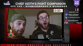 UFC 229 Anthony Pettis DROPS Tony Ferguson! Chief Keith Fight Companion - Live Reaction and Analysis